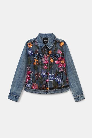 Veste en jean slim fleurs | Desigual
