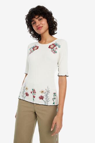 Maglietta bianca fiori Secret Garden