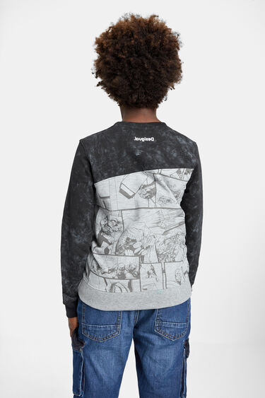 Comic-Pullover mit Mesh-Patch | Desigual