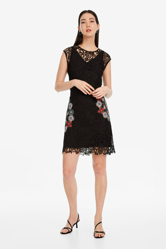 Black Lace Dress Malpaso