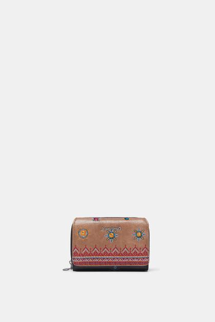 Rechthoekige boho-portemonnee