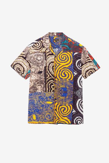 ハワイアン風の滑らかシャツ | Desigual