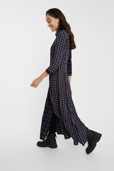 Tartan long shirt dress | Desigual