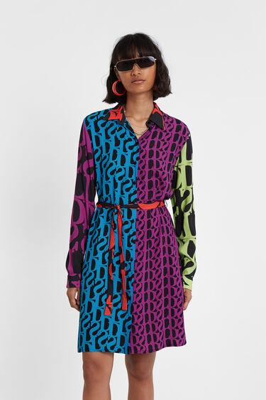 Robe chemise Logomanie Designed by M. Christian Lacroix | Desigual