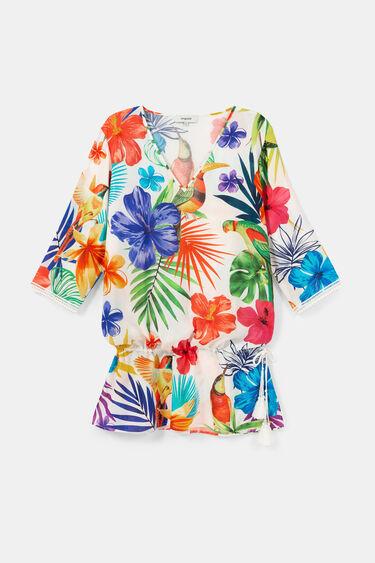 Kaftan tropical print | Desigual