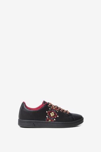 Navaho print embossed sneakers