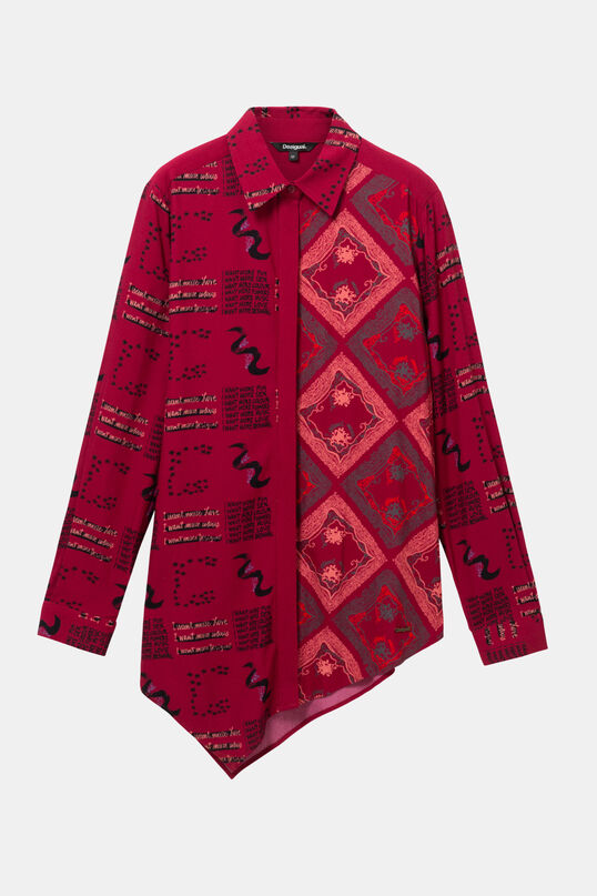 Asymmetric viscose shirt | Desigual