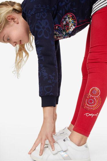 Sequinned mandala leggings   Desigual