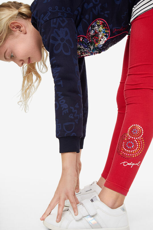 Sequinned mandala leggings | Desigual