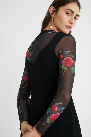 Floral mesh dress | Desigual