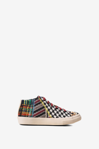 High-top jacquard trainers