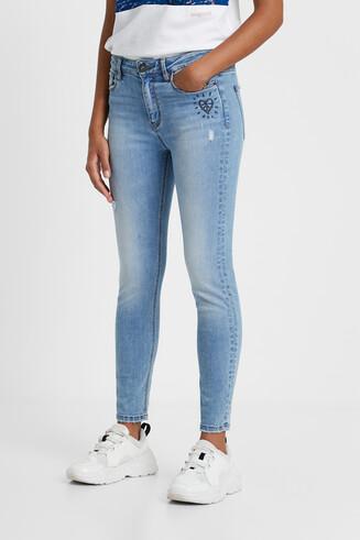 Skinny jean trousers