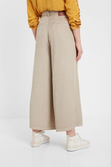 Long flared culotte trousers | Desigual