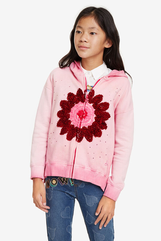 Sweatshirt zipper with hood | Desigual
