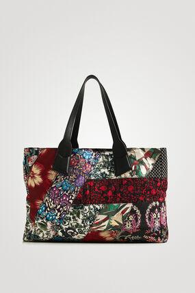 Bolso shopping bag jacquard floral