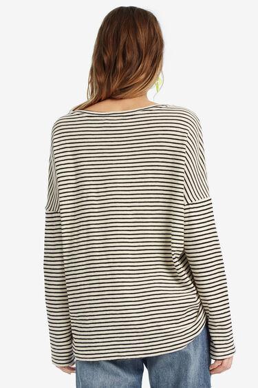 Hawaiian finely-striped T-shirt | Desigual
