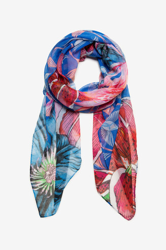 Sjaal vogel- en bloemen Birdy