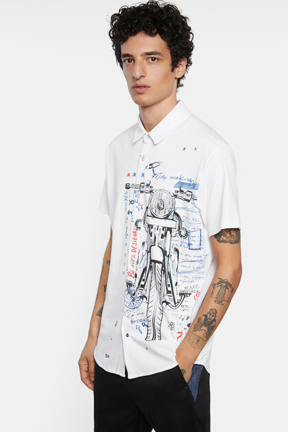 Shirt motorcycle 100% cotton