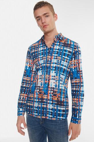 Organic striped jacquard shirt