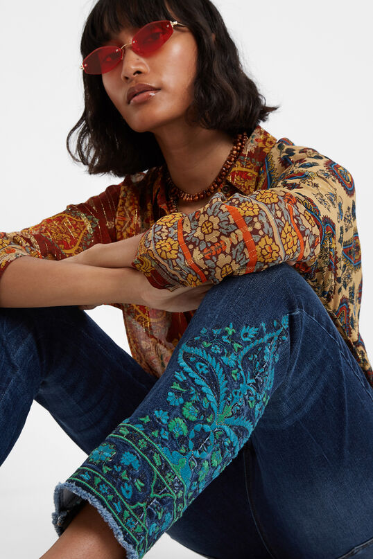 Denim skinny trousers | Desigual