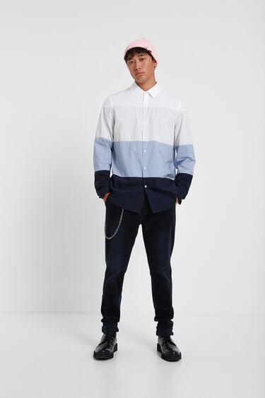 100% cotton stripe shirt | Desigual