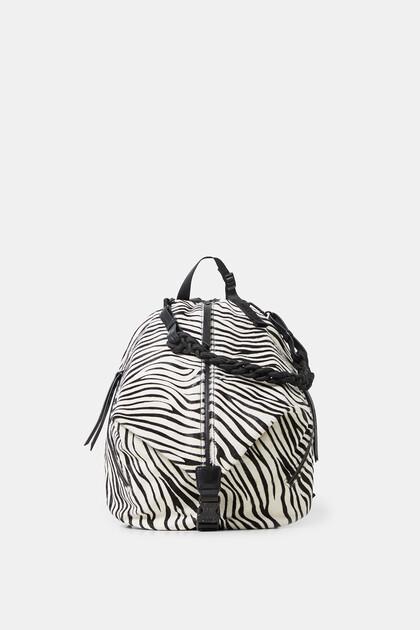 Lederrucksack mit Zebramuster