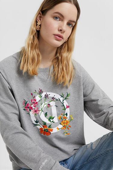 Floral logo sweatshirt | Desigual
