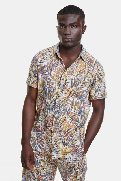 Recycled tropical shirt