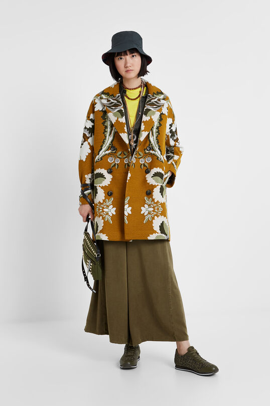 Loose double-breasted jacket with lapels Designed by M. Christian Lacroix | Desigual