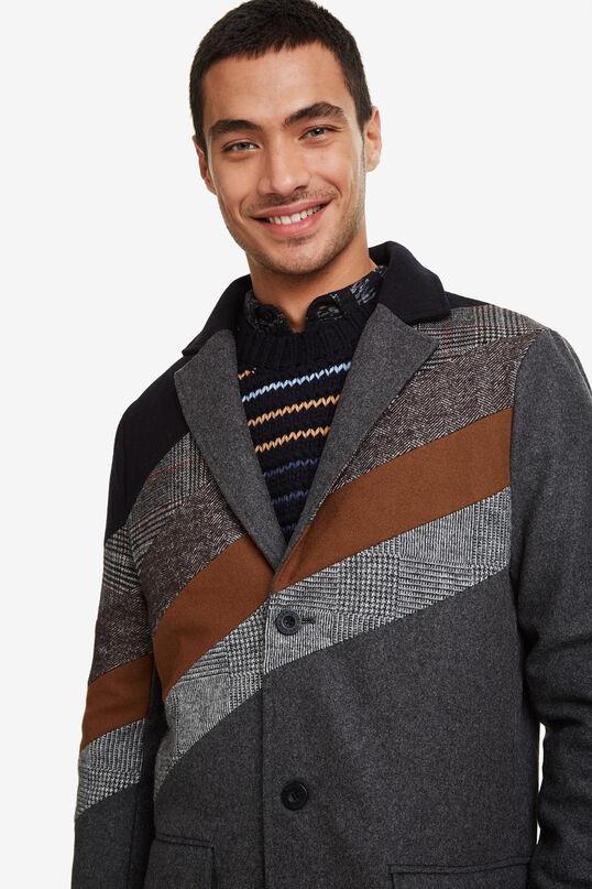 Abrigo de lana con capucha | Desigual