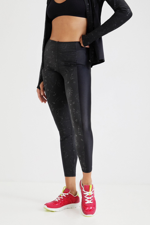 Slim leggings constellations - BLACK - L