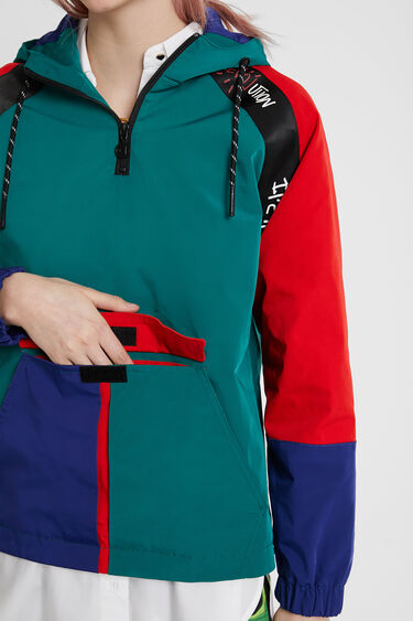Waterproof urban rain jacket with hood | Desigual