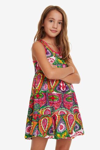 Wendbares Kleid mit Volants Menta