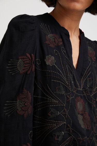 Vestido bordado botánico | Desigual
