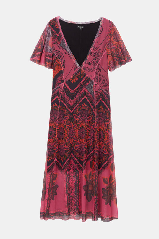 Flared double layer dress | Desigual