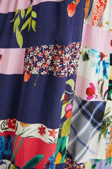 Lange jurk met patchwork | Desigual