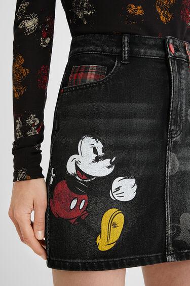 Jeans-Minirock Illustrationen und Tartan | Desigual