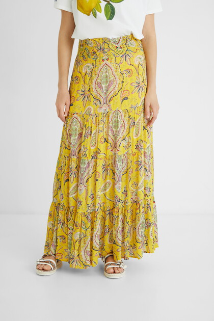 Long bell skirt paisley
