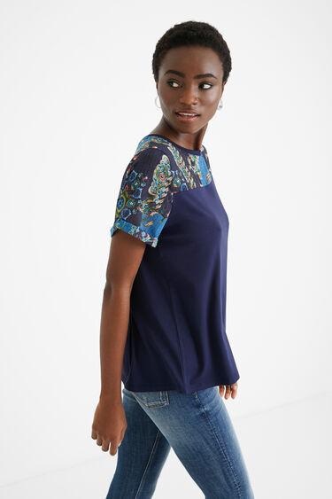 Bimaterial T-shirt tulle mandalas | Desigual