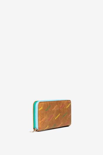 Moneder en logomania multicolor   Desigual