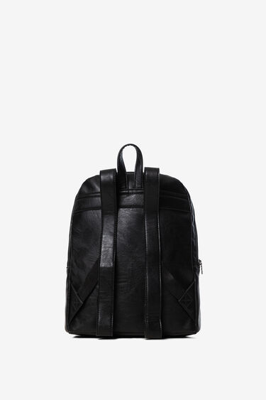 Synthetic leather embossed backpack | Desigual