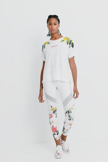 100% cotton floral T-shirt | Desigual