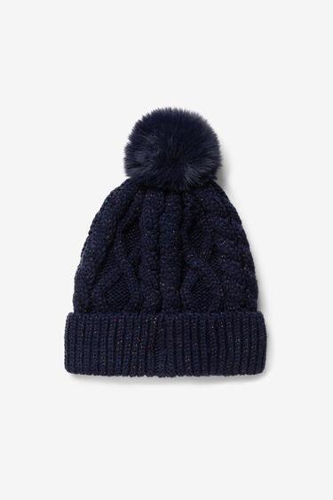 Wool hat pom pom | Desigual