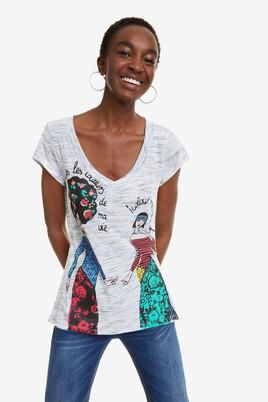 V-neck Women T-shirt Twins