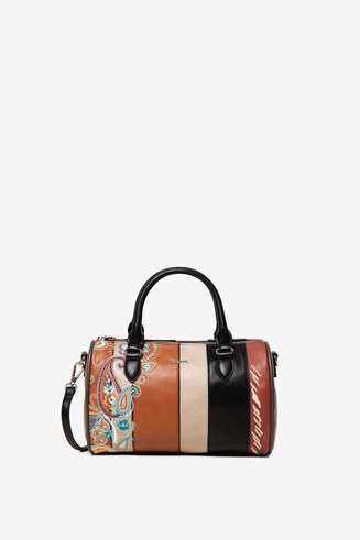 Mini cylinder bag PU leather