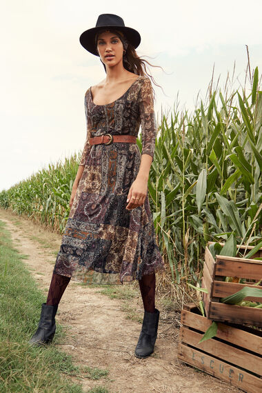 Boho flared dress