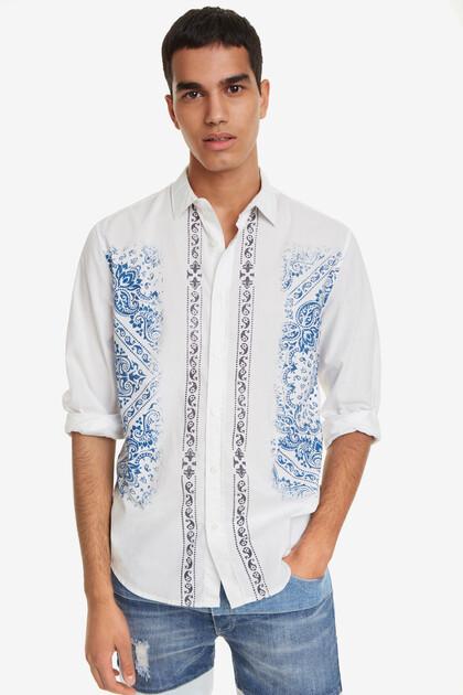 White tile print shirt Cayden