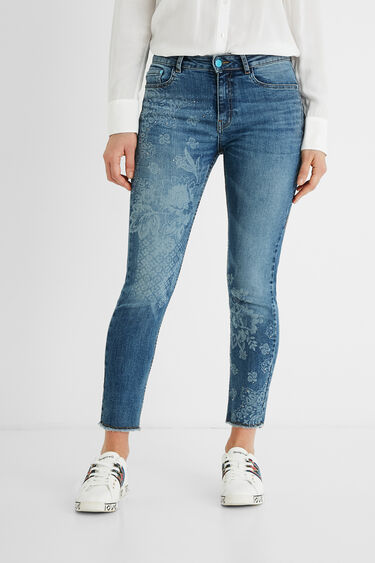 Skinny jeans cropped | Desigual