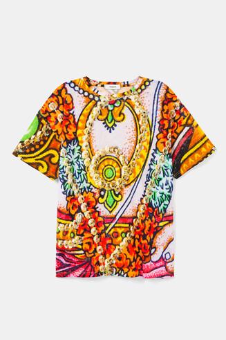 Uniseks T-shirt met hindoe-ontwerpen