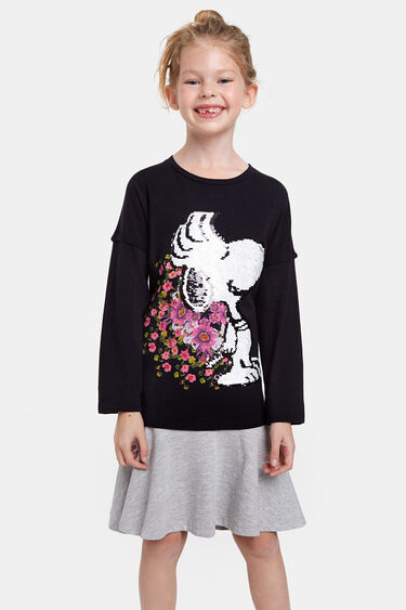 Snoopy dress reversible sequins | Desigual